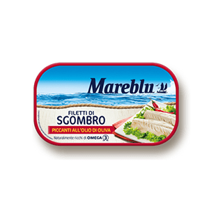 BUY MAREBLU' MACKEREL FILLETS IN OLIVE OIL SPICY 90g
