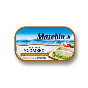 BUY MAREBLU' SMOKED MACKEREL FILLETS IN OLIVE OIL 90g