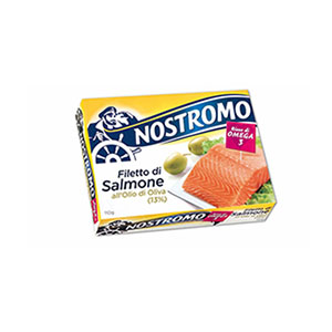 BUY NOSTROMO SALMON IN OLIVE OIL 110g