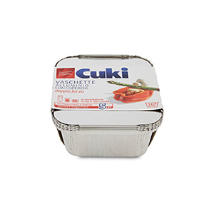 BUY CUKI ALUMINUM FOIL BOWL WITH COVER 1 PORTION